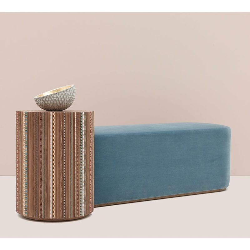 The Invisible Collection Nada Debs Funquetery Pleated Bench