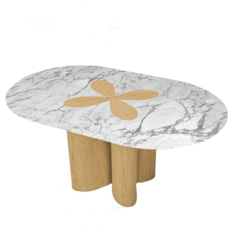 The Invisible Collection Riviera Expandable Table Charlotte Biltgen