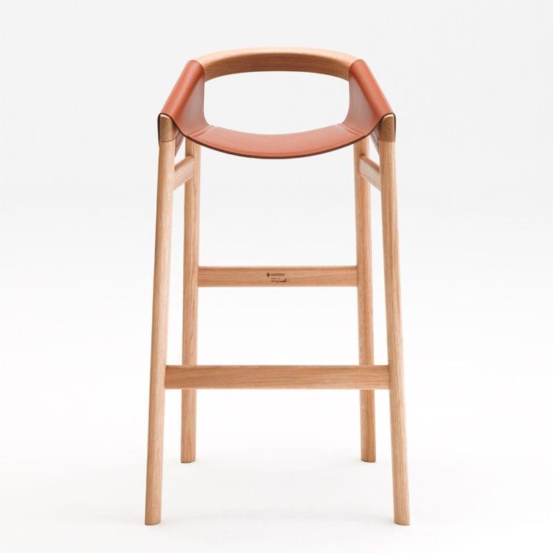 The Invisible Collection Dartagnan Barstool David Haymann Walnut Noyer Oak Chêne Leather Cuir