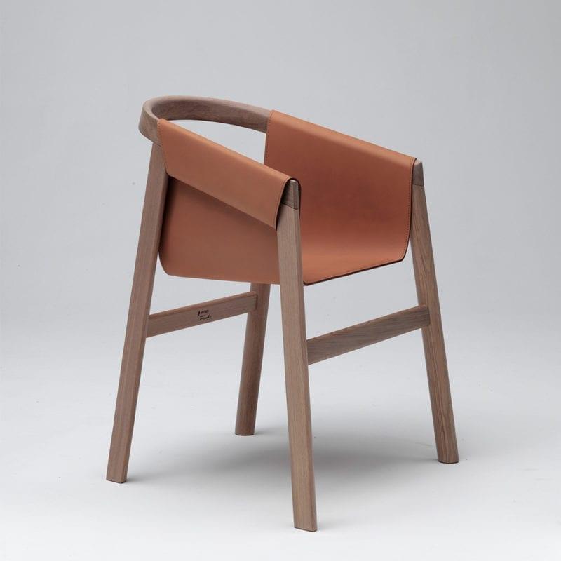 The Invisible Collection Dartagnan Chair David Haymann Walnut Noyer Chêne Oak Leather Cuir