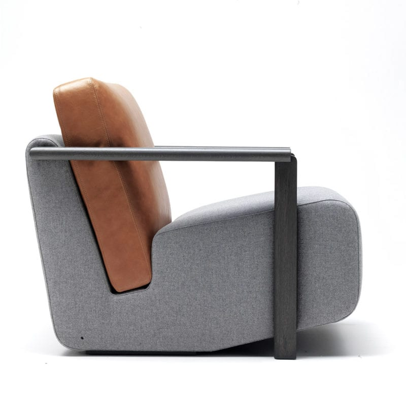 The Invisible Collection Franck Armchair David Haymann oak chêne leather cuir