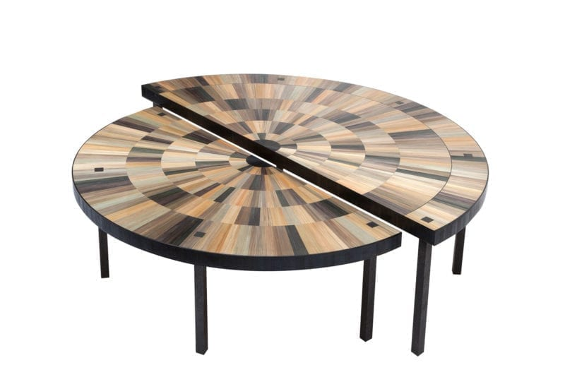 coffee table iris by cslb studio, caroline sarkozy - the invisible collection