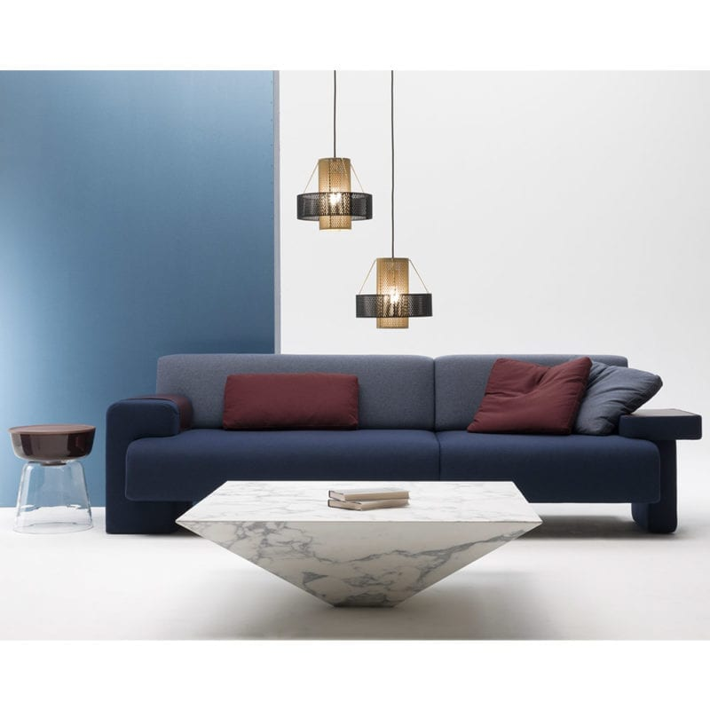 The Invisible Collection Lythos Coffe Table Max Sofa David Haymann marble leather fabric wool