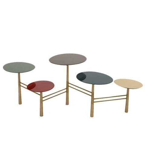 The Invisible Collection Pebble Coffee Table Tapis D'Orient by Nada Debs