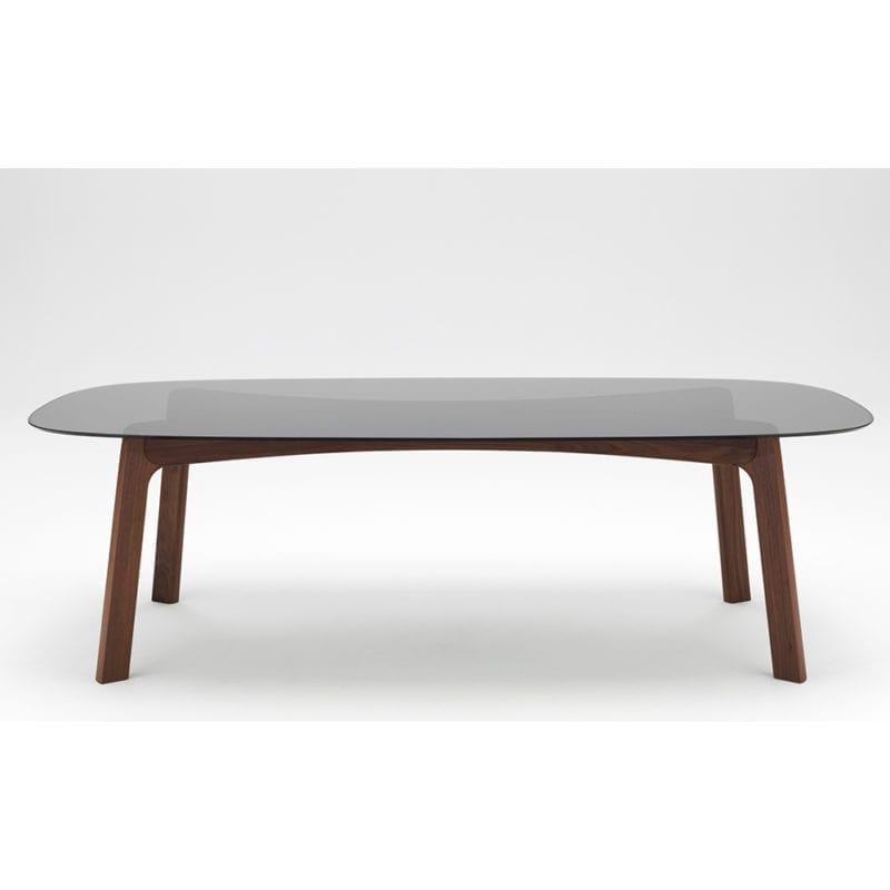 The Invisible Collection Robin Dining Table David Haymann walnut oak glass marble noser chino verre marbre