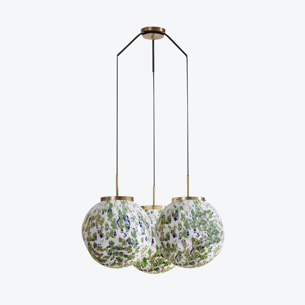 Ceiling Lamp King Sun Murano X3 Green