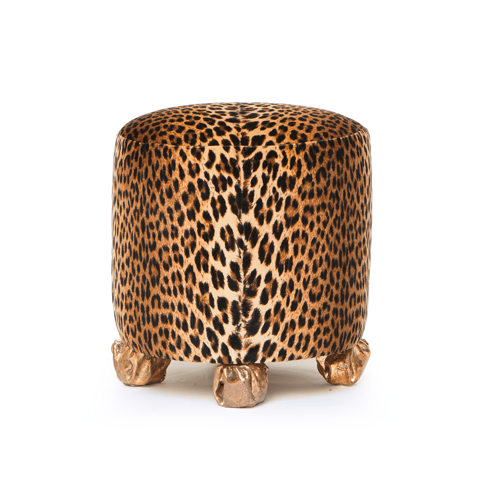 The Invisible Collection Leopard Round Stool Osanna Visconti