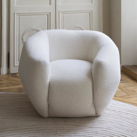 The Invisible Collection Bouclé Asymétrie Armchair Pierre Yovanovitch