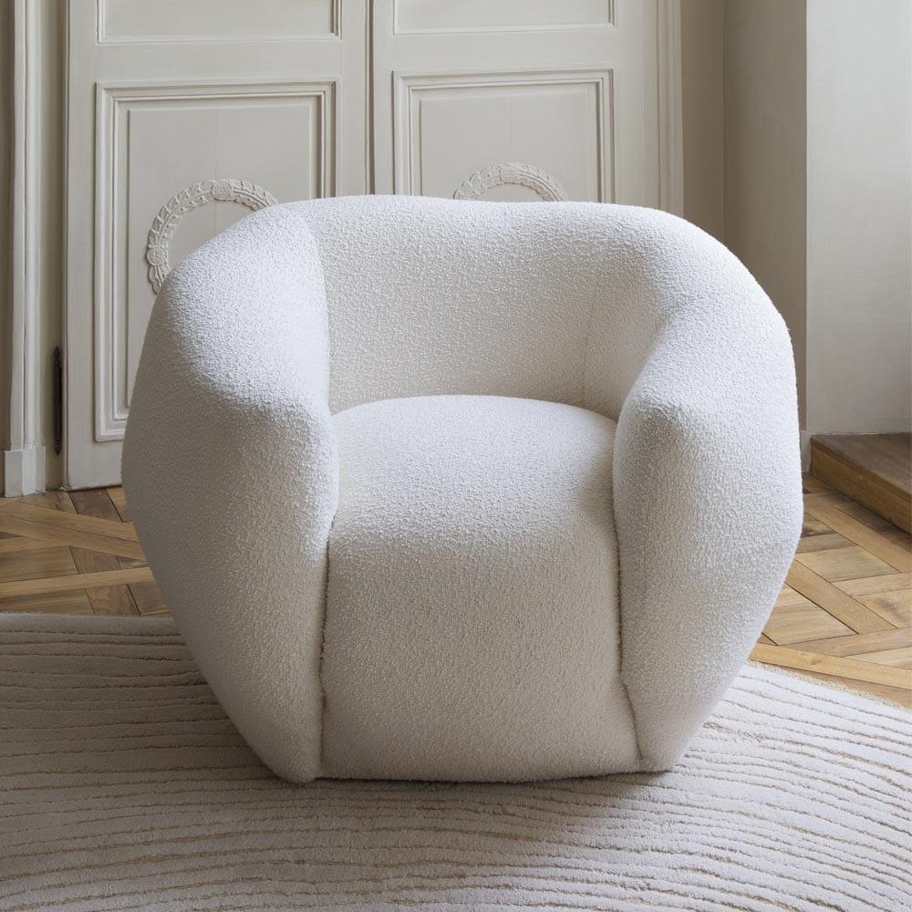 The Invisible Collection Bouclé Asymétrie Armchair Pierre Yovanovitch
