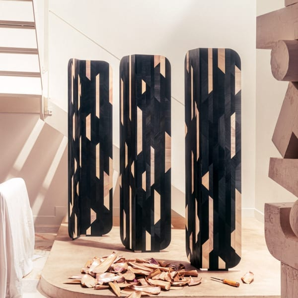 Marquetry Folding Screen by Mayaro Editions - The Invisible Collection