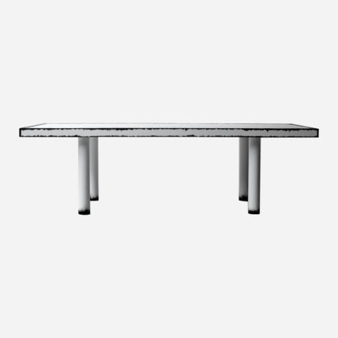The Invisible Collection Blanc Cassé Dining Table Damien Gernay