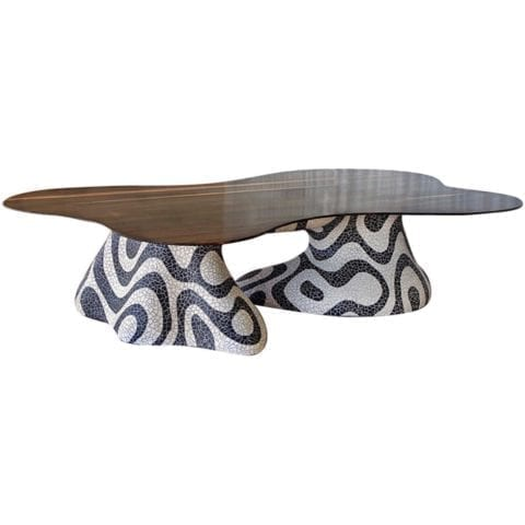 Kelly Behun Freeform Mosaic Dining Table