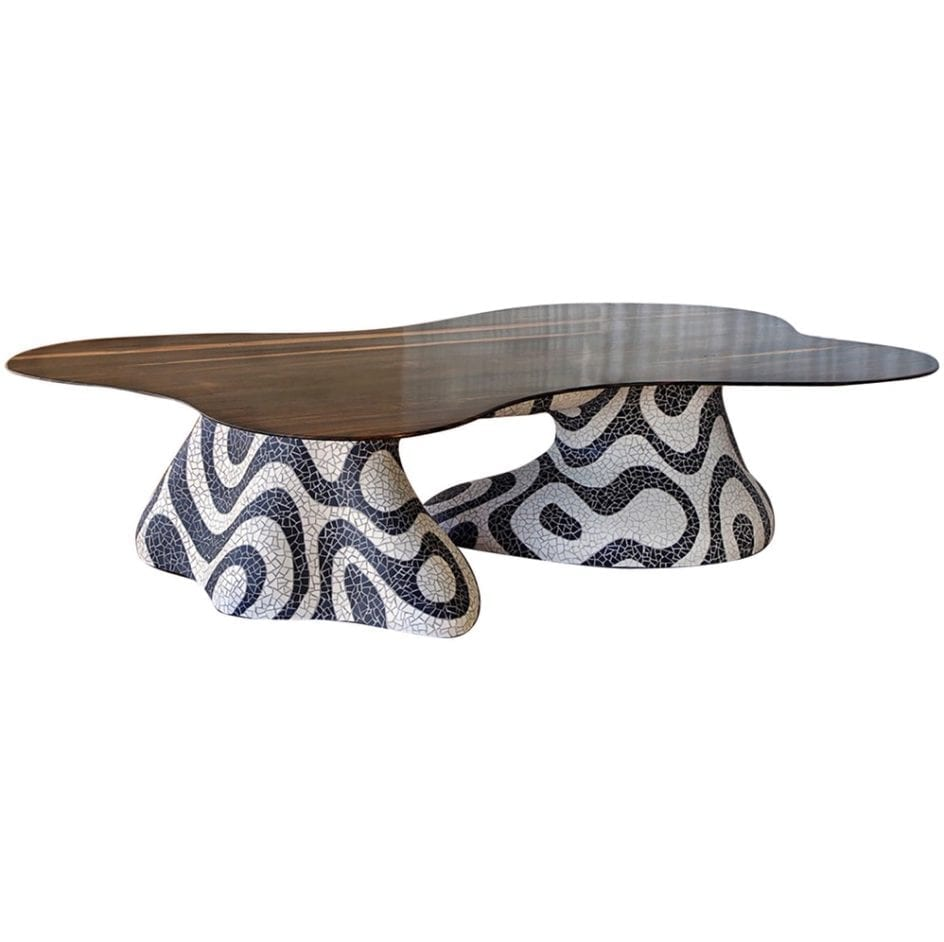 Kelly Behun Freeform Mosaic Dining Table
