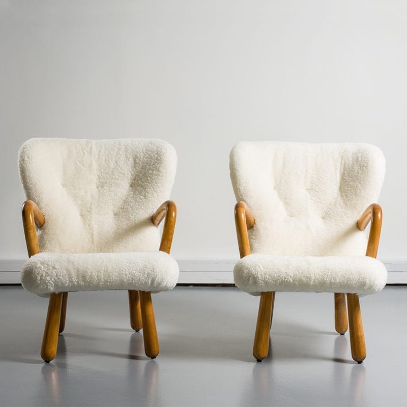The Invisible Collection Pair of AKE Armchairs Norki