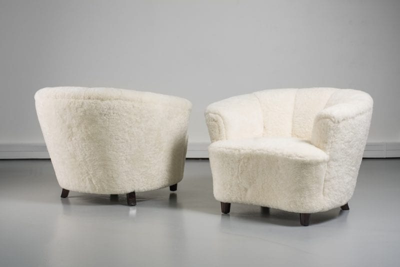 The Invisible Collection Pair of 1940/1950 Armchairs Norki